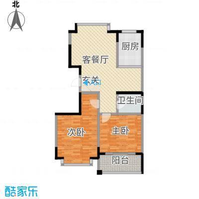 青青小城200885829865_副本户型2室2厅1卫1厨