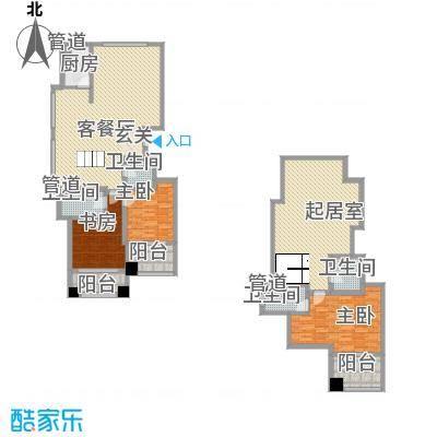 颐顺园21.74㎡户型3室3厅4卫1厨