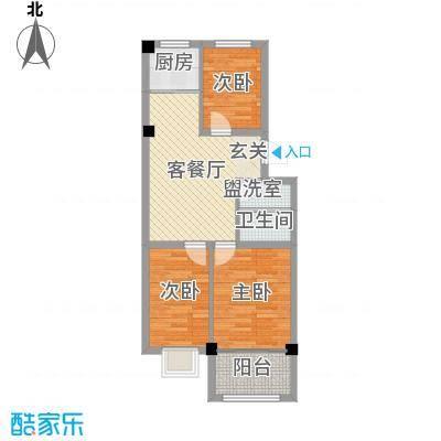 远遥新村78.41㎡户型3室2厅1卫1厨