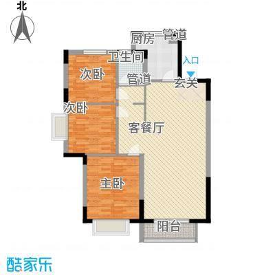 华润中心凯旋门127.00㎡5#楼标准层3C'户型3室2厅1卫1厨