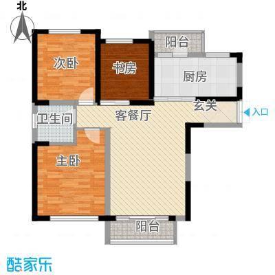 豪业圣迪广场户型3室2厅1卫1厨