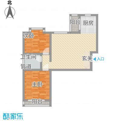 福祉家园83.56㎡户型2室1厅1卫1厨