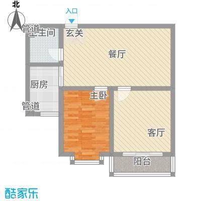 福祉家园87.32㎡户型2室2厅1卫1厨