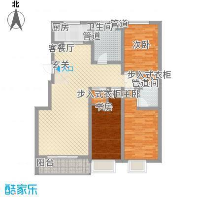 星海花园户型3室2厅2卫1厨