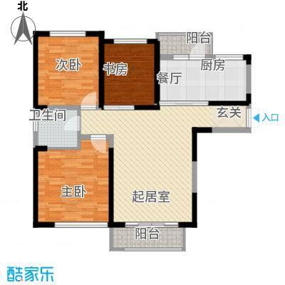 峰景俊园户型3室2厅1卫1厨