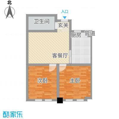 东发现代城山水园82.63㎡多层户型2室1厅1卫1厨