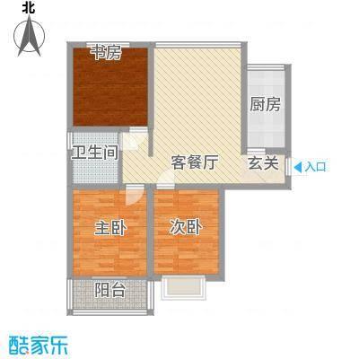 东发现代城山水园18.23㎡多层户型3室1厅1卫1厨