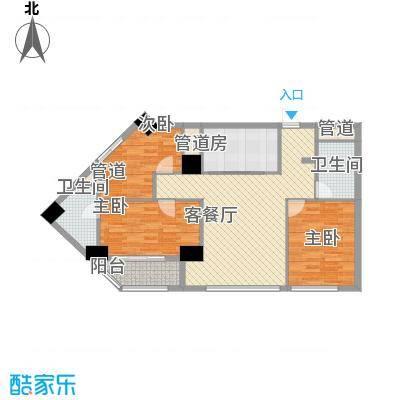 韩国城115.60㎡户型3室2厅2卫1厨