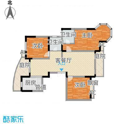 江海皇都154.00㎡F7户型3室2厅2卫1厨