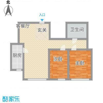 杨家滩花园户型2室2厅1卫1厨