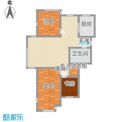 杨家滩花园12.56㎡户型2室2厅1卫1厨
