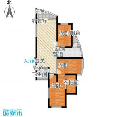 蓝天广场户型3室2厅1卫1厨