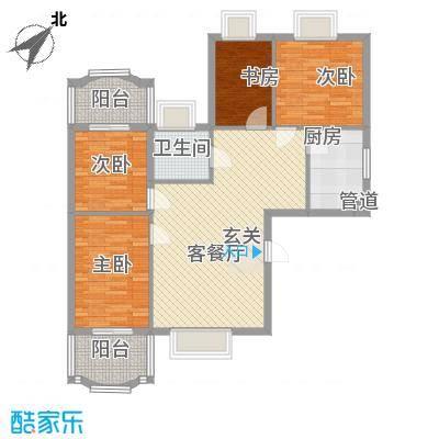 新浪屿花园117.67㎡户型3室2厅1卫1厨