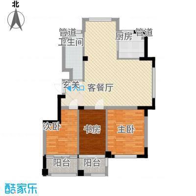 高新・锦绣北山115.30㎡小高层B3户型3室1厅1卫1厨