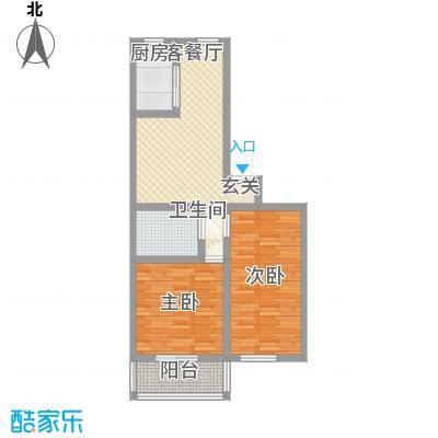 清河苑78.00㎡户型2室1厅1卫1厨