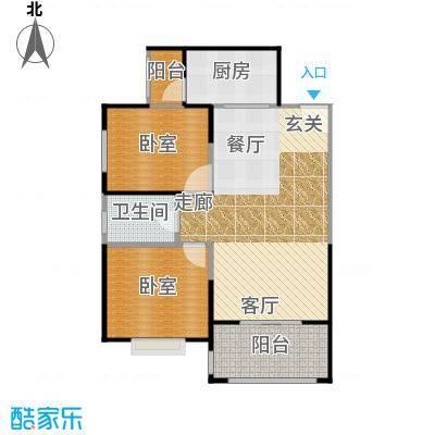 高新第五季89.00㎡两室两厅一卫89平米E户型-副本
