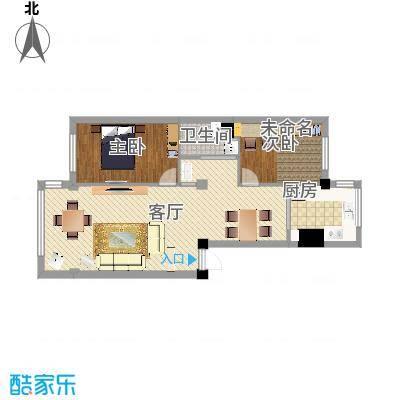 水岸华城02户型两室两厅