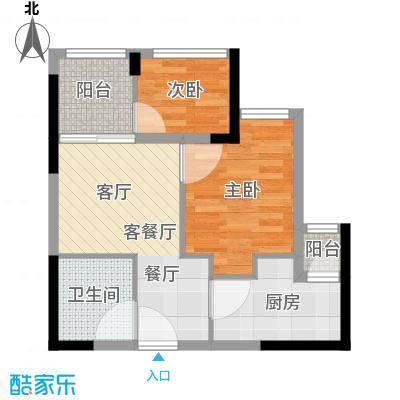 东原D8公馆户型2室1厅1卫1厨-副本