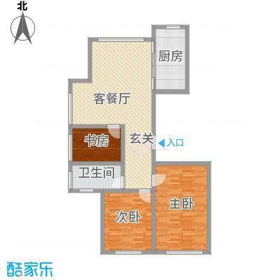 宝华・天泽府121.77㎡G户型3室2厅2卫1厨