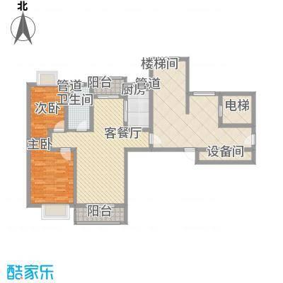 正棋山1号16.00㎡二期小高层A0308户型2室1厅1卫1厨