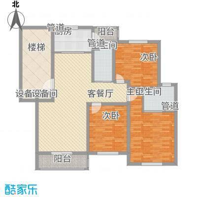 正棋山1号13.00㎡二期多层三居室户型3室1厅2卫1厨