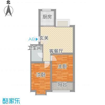 东发现代城山水园7.21㎡多层户型2室1厅1卫1厨