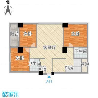 韩国城137.25㎡F户型3室2厅2卫1厨