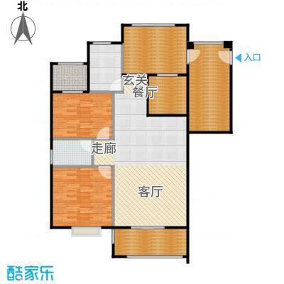 厦门金色阳光户型2室1厅1卫1厨-副本