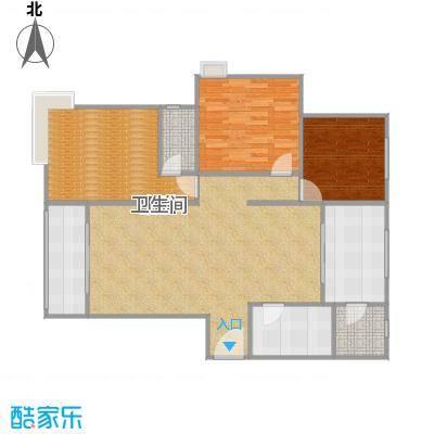 5-A三室两厅两卫,建筑面积约:134.59㎡