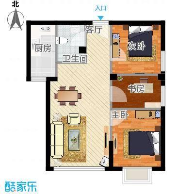 三号楼89方3号户型三室两厅-副本
