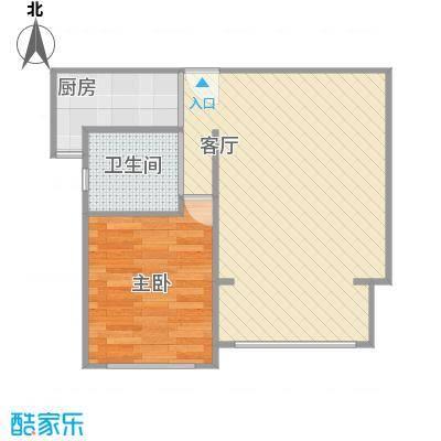 东方康德家园户型图一室一厅