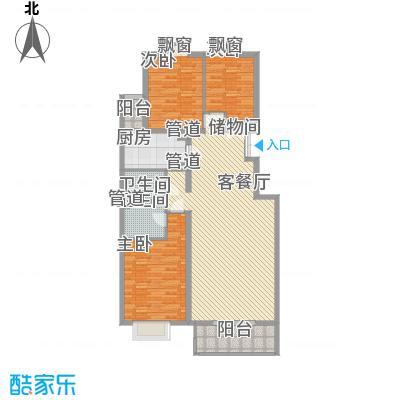 银谷美泉家园5、6号楼B1户型3室2厅2卫1厨