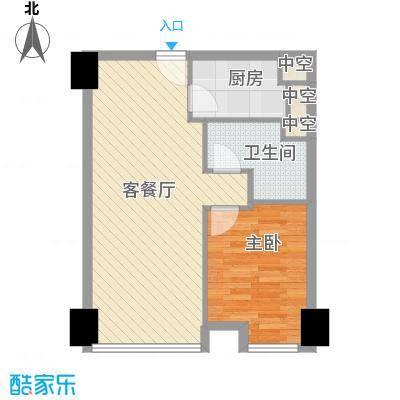 方恒国际中心A5/A5反户型1室1厅1卫1厨