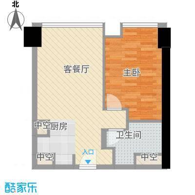 方恒国际中心A2/A2反户型1室1厅1卫1厨