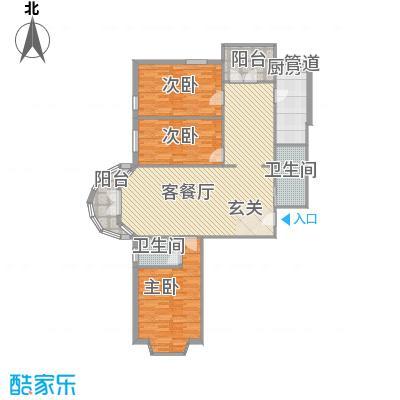 山水LAVIEC户型3室2厅2卫1厨