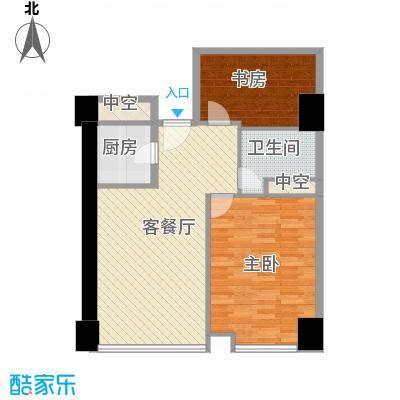 方恒国际中心A7/A7反户型2室1厅1卫1厨