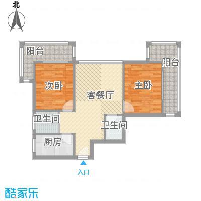 望京花园西区85.00㎡户型2室