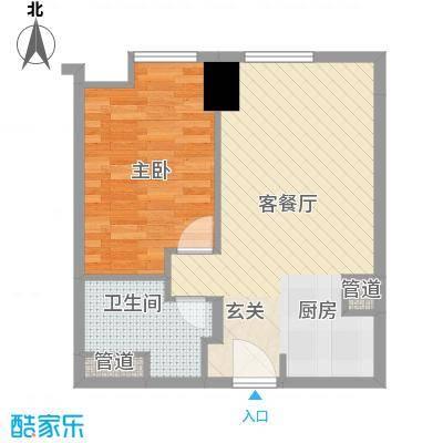 方恒国际中心A3/A3反户型1室1厅1卫1厨
