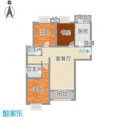北京青年城122.63㎡蒂洛达玛户型3室2厅2卫1厨