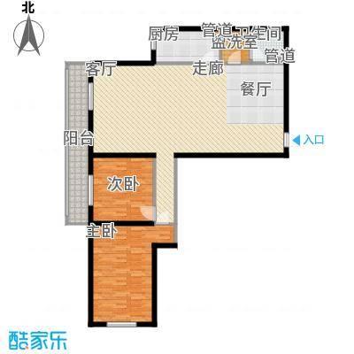 东丽温泉家园118.58㎡B户型2室1厅1卫1厨