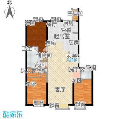 冠城大通澜石16.55㎡C户型3室2厅2卫1厨