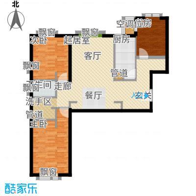 冠城大通澜石115.51㎡A户型3室2厅1卫1厨
