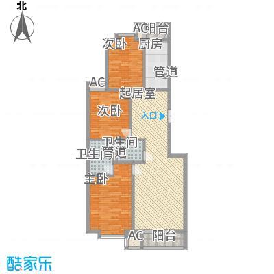世涛天朗一期12.22㎡C41户型3室2厅2卫1厨
