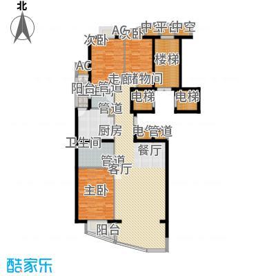 富卓花园E户型3室2厅2卫1厨