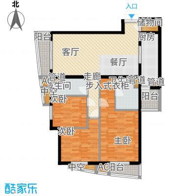 富卓花园135.68㎡G平面示意图户型3室2厅2卫1厨