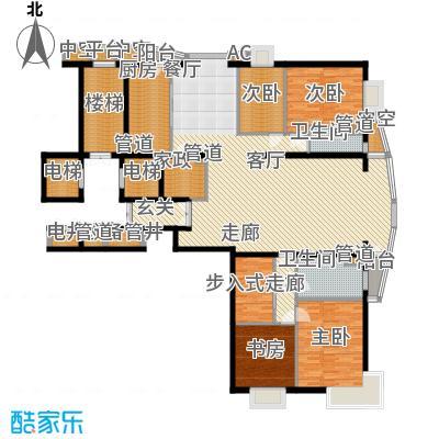 富卓花园C户型4室2厅2卫1厨