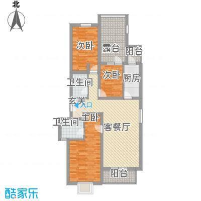 桃花岛118.00㎡户型3室