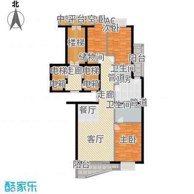 富卓花园15.32㎡B户型3室2厅2卫1厨