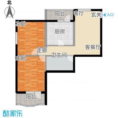 地铁古城家园85.17㎡户型2室1厅1卫1厨