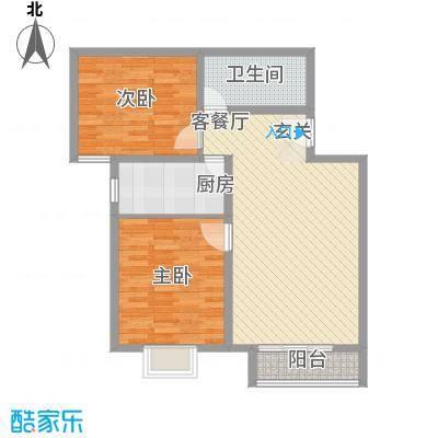 万年花城一期7、8号楼A户型2室2厅1卫1厨